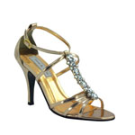 Touch Ups Womens Vanessa Rose gold Metalllic Sandals Prom and Evening Shoes
