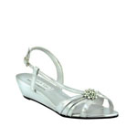Touch Ups Womens Geri Silver Metalllic Pumps Prom and Evening Shoes
