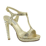 Touch Ups Womens Darcy Gold Metalllic Platforms Prom and Evening Shoes
