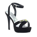 Touch Ups Womens Dale Black Metalllic Platforms Prom and Evening Shoes