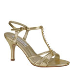Touch Ups Womens Anneka Gold Synthetic Sandals Prom and Evening Shoes