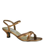 Touch Ups Womens Melanie Bronze Glitter Sandals Prom and Evening Shoes