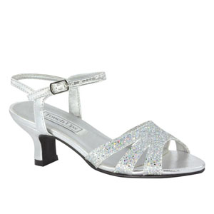 Touch Ups Girls JoJo Silver Synthetic Platforms Prom and Evening Shoes