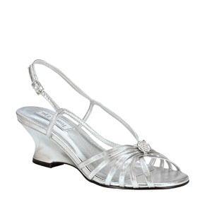 Touch Ups Womens Anastasia Silver Synthetic Sandals Prom and Evening Shoes
