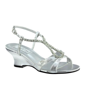 Touch Ups Womens Regina Silver Synthetic Sandals Prom and Evening Shoes
