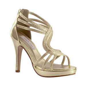 58740df8159 Touch Ups Womens Tuesday Gold Metalllic Platforms Prom and Evening Shoes