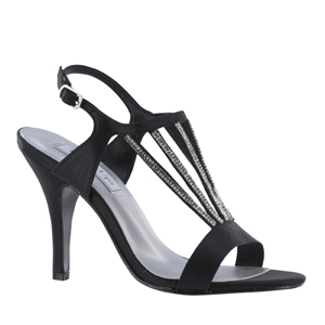 840e29cbccf2 Touch Ups Womens Carmen Black Satin Sandals Prom and Evening Shoes