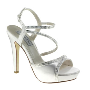 Touch Ups Womens Allie White Satin Sandals Wedding Shoes