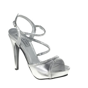 Touch Ups Womens Allie Silver Satin Sandals Wedding Shoes