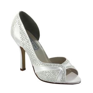 Touch Ups Womens Autumn White Satin Pumps Wedding Shoes