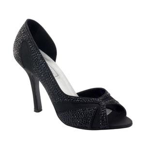 Touch Ups Womens Autumn Black Satin Pumps Wedding Shoes