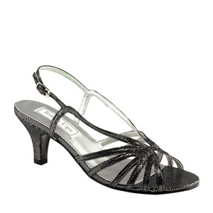 Touch Ups Womens Tatum Black Glitter Sandals Prom and Evening Shoes