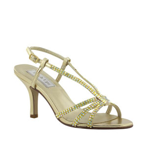 Touch Ups Womens Lyric Gold Metalllic Sandals Prom and Evening Shoes