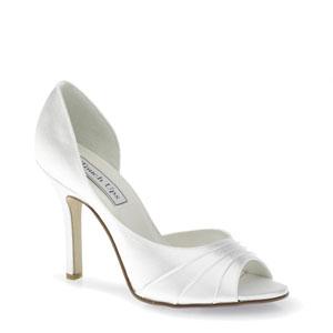 Touch Ups Womens Flash White Satin Peep/Open Toe Wedding Shoes