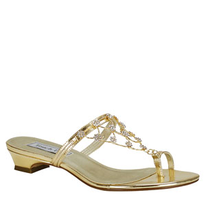 Touch Ups Womens Marcella Gold Metalllic Sandals Prom and Evening Shoes