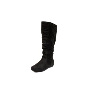 Wild Diva Womens KALISA-04 Black V Suede Boots Casual Shoes